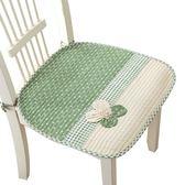 促銷款坐墊 中式簡約現代坐墊布藝加厚防滑家用餐桌實木椅墊清新文藝田園椅墊