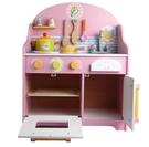 日本可愛粉色木製廚房玩具組 兒童仿真廚房...