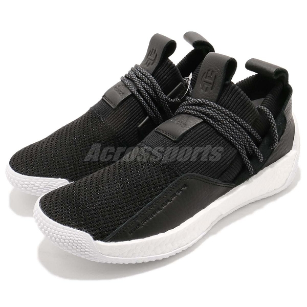 adidas 籃球鞋 Harden LS 2 Lace 黑 白 BOOST中底 休閒支線鞋款 哈登 男鞋【ACS】 BB7651