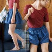 正韓2018夏季童裝女童短褲棉質薄牛仔裙褲中大童女孩寬鬆休閒褲