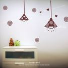☆阿布屋壁貼☆可愛吊燈 A - S尺寸  壁貼