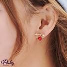 耳環 愛心射箭水鑽耳環-Ruby s 露比午茶