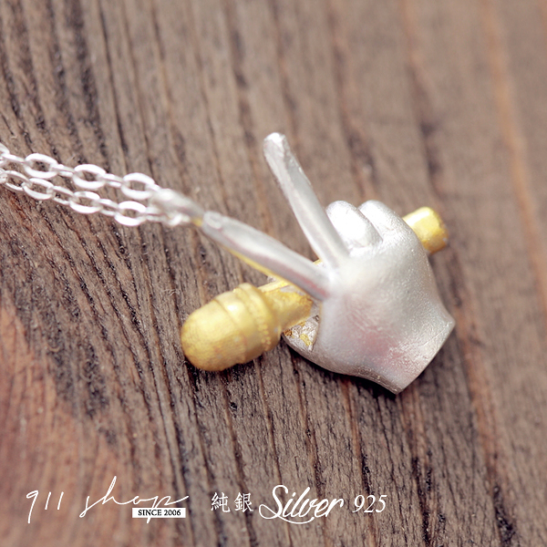 Brisk.925純銀中國好聲音雙色短項鍊鎖骨鏈【s146】*911 SHOP*