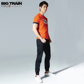 BIG TRAIN  吸濕快乾仿丹寧束口褲-男BM8027