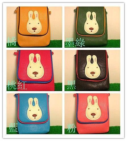 【發現。好貨】可愛砂糖兔 兔子系列休閒皮革包包 流行手機袋 時尚側背包