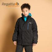 Regatta 童 防風│防水│纖維│兩件式雪衣 RKP074『黑/灰泥灰』