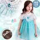 韓國童裝~冰雪公主雪花蕾絲萬聖節聖誕節洋...