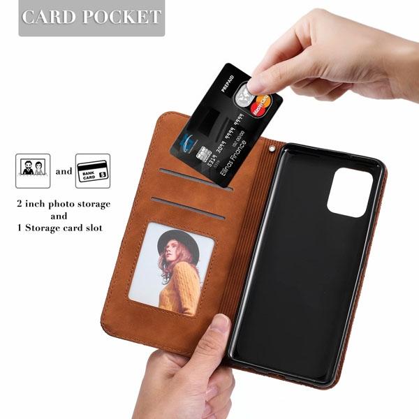 三星 A42 5G 壓紋幸運花皮套 手機皮套 插卡 支架 磁吸 保護套