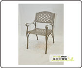 {{ 海中天休閒傢俱廣場 }} G-52 戶外時尚 鋁合金桌椅系列 14-5 金格扶手椅