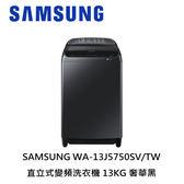SAMSUNG 13KG 變頻直立式洗衣機 WA13J5750SV 含基本安裝 免運
