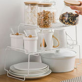 瀝水架 調料瓶架 置物架 收納架 層架 碗碟架 整理架 鐵藝 可疊加置物架(大)【N018】生活家精品