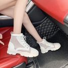 短靴 馬丁靴女薄款網面百搭英倫風透氣學生瘦瘦短靴子-Ballet朵朵