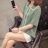 大碼衣著上衣針織衫寬鬆中大尺碼XL-4XL冰爽針織寬鬆顯瘦短袖打底衫2F060-2105.依品國際