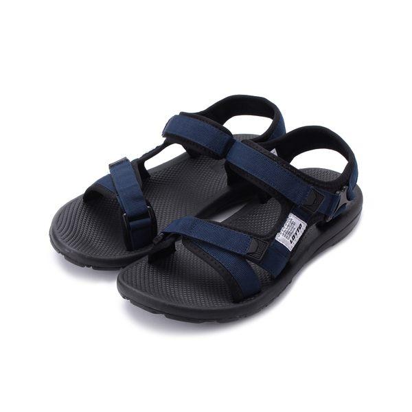 LOTTO 輕量織帶涼鞋 藍 LT8AMS6136 男鞋 鞋全家福