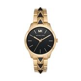 【Michael Kors】Runway美式經典龐克風個性腕錶-寂靜黑/MK6669/台灣總代理公司貨享兩年保固