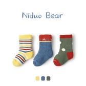 尼多熊嬰兒襪子冬加厚保暖寶寶襪新生兒毛圈兒童中長筒襪秋冬純棉