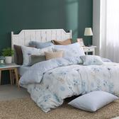 100%純棉 / 加大 / 兩用被床包組-【沁藍微風】