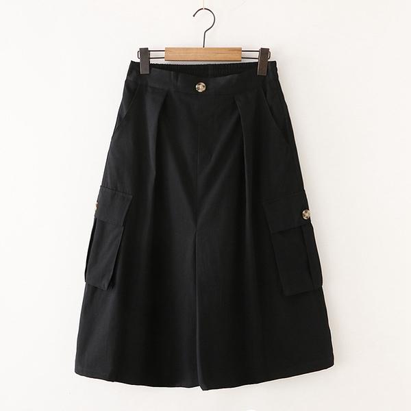 *ORead*日系森女系工裝多口袋半身裙(2色M,L)