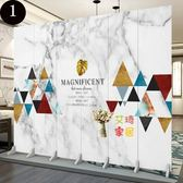 屏風 定製中式屏風 隔斷客廳酒店雙面簡約現代簡易實木布藝摺疊行動折屏屏風T 10色