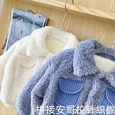 熱賣嬰兒羊羔毛外套 加絨毛絨外套冬女童休閒寶寶羊羔絨棉衣嬰兒童秋冬裝上衣短款加厚 coco