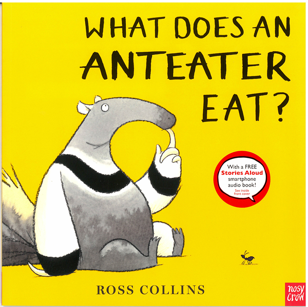 《幽默故事》WHAT DOES AN ANTEATER EAT /英文繪本+內附QR code【麥克書店】作者:Ross Collins