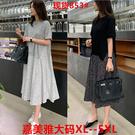 XL-5XL大碼洋裝長裙~休閑大碼女裝短...