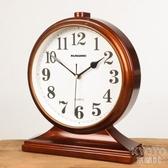 擺鐘 鐘錶擺件大號家用創意客廳座鐘臺式時鐘桌面座式擺鐘臥室靜音臺鐘 京都3C