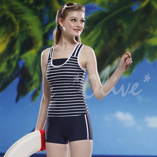 ☆小薇的店☆泳之美品牌【簡約拼接條紋】時尚二件式泳裝特價990元 NO.2273(S-2L)