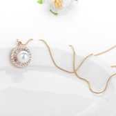項鍊 純銀鍍白金鑲鑽墜飾-美麗大方生日情人節禮物女飾品2色73ct52【時尚巴黎】