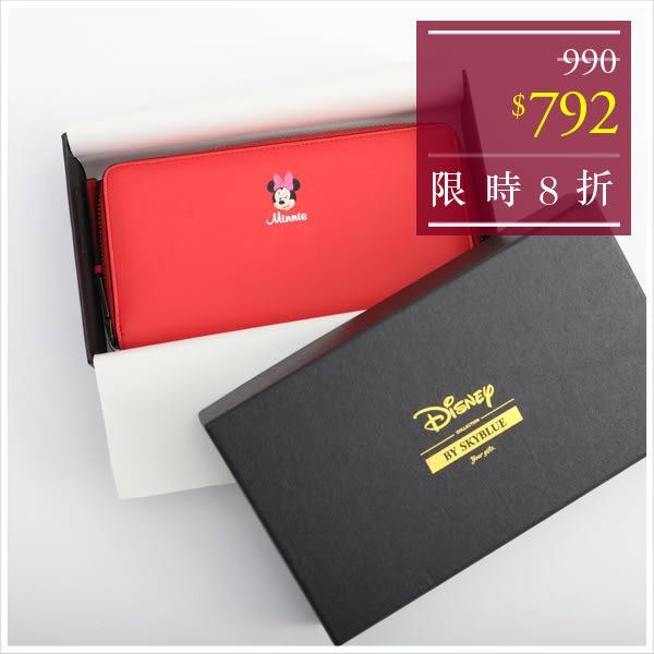 皮夾-迪士尼系列彩色真皮長夾-共9色-A08080736-天藍小舖