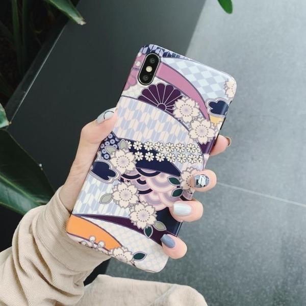 🍏 iPhoneXs/XR 蘋果手機殼 可掛繩 和風錦鯉花朵 矽膠軟殼 iX/i8/i7/i6/6sPlus