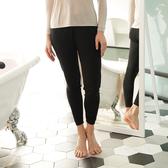 闕蘭絹 素面黑色32針蠶絲內搭褲100%蠶絲內搭褲-9921(黑)