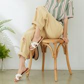 【慢。生活】破損造型寬版棉料長褲 620 FREE杏