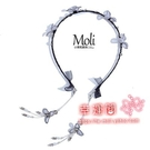 髮箍假耳環 女韓國簡約氣質百搭外出細款壓髮卡成人頭飾假耳環頭箍髮帶 2色