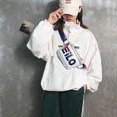超火包包女2018新品潮百搭時尚迷你斜挎小胸包女運動跑步腰包 快速出貨