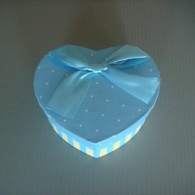 心型小禮物盒(粉藍色)/飾品盒