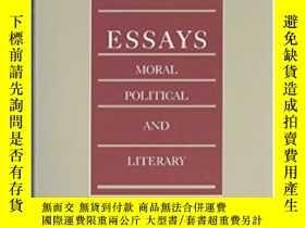 二手書博民逛書店Essays罕見- Moral, Political And Literary-論文-道德,政治和文學Y436