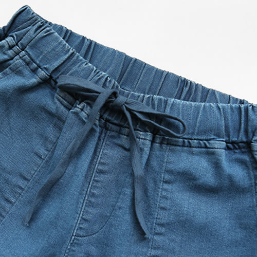 MIUSTAR 韓國-5KG修身高彈力抽繩鬆緊老爺褲(共3色,S-L)【NE3752EW】預購