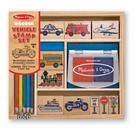 《 美國 Melissa & Doug 》木製印章系列 - 交通工具 16pcs / JOYBUS歡樂寶貝