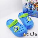 【樂樂童鞋】台灣製POLI波力閃燈布希鞋 P039 - 現貨 台灣製 男童鞋 涼鞋 女童鞋 小童鞋 大童鞋