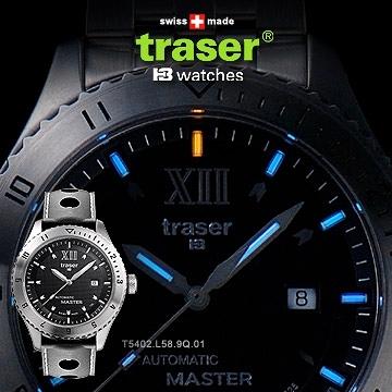 丹大戶外用品【Traser】TRASER Automatic 自動上鏈經典錶(橡膠錶帶) 100262