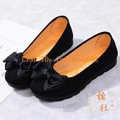 豆豆鞋女單鞋老北京布鞋工作鞋軟底防滑媽媽鞋懶人一腳蹬【橘社小鎮】