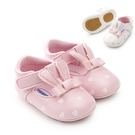 愛心小兔軟膠片蝴蝶結嬰兒鞋 學步鞋 防滑點膠 寶寶嬰兒鞋 童鞋.室內鞋 0~24M 橘魔法 兒童 寶寶鞋