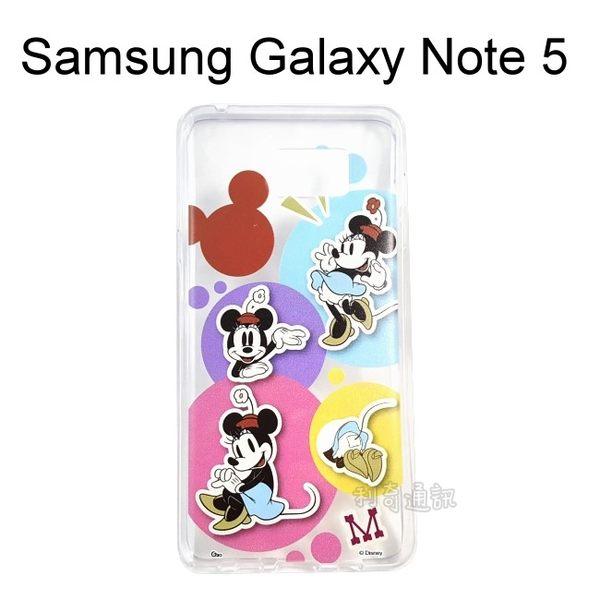 迪士尼透明軟殼 [人物] 米妮 Samsung N9208 Galaxy Note 5【Disney正版授權】