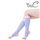 【醫碩科技】Tric PT-P54-45255-PU 台灣製造 睡眠機能 美腿露趾中統小腿襪 一雙