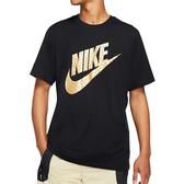 Nike 男金屬徽標圖案圓領上衣(黑色)