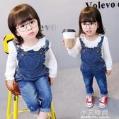 女童牛仔吊帶褲2020春 秋款兒童1-3歲時尚女寶寶秋裝小童洋氣褲子【小艾新品】