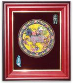 鹿港窯-交趾陶居家開運裝飾壁飾~L官印麒麟