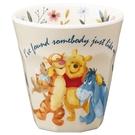 小禮堂 迪士尼 小熊維尼 無把美耐皿杯 塑膠杯 兒童水杯 290ml  (米 搭肩) 4973307-51169