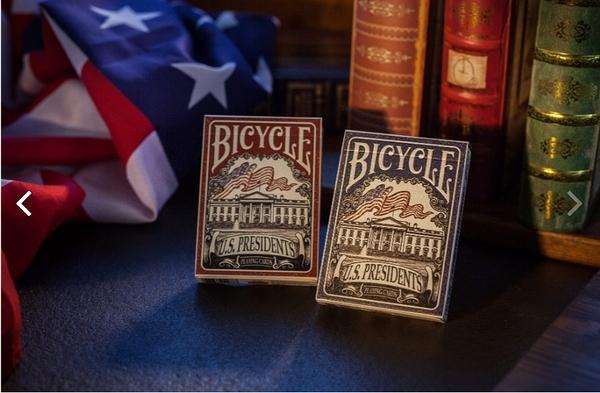 【USPCC撲克】Bicycle 藍象馬封標 US PRESIDENT 紅 凸盒  S102714